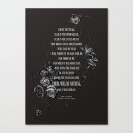 Bene Gesserit Litany Against Fear Canvas Print