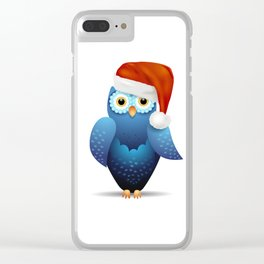 Owl with Santa hat Clear iPhone Case