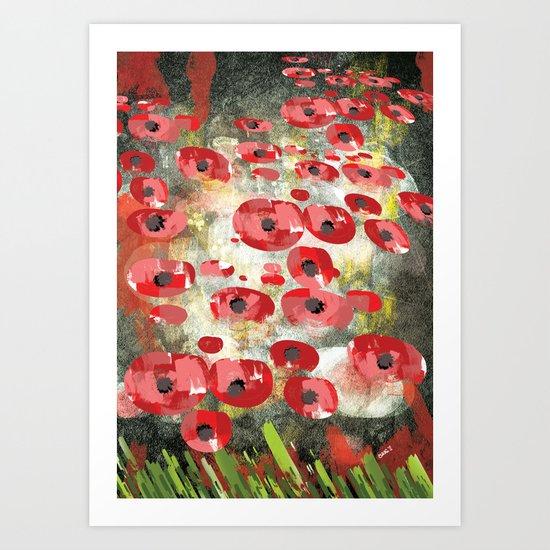 angela's poppies Art Print