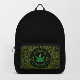 Magic plant. Marijuana leaf. mandala Backpack