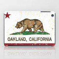 oakland iPad Cases featuring Oakland California Republic Flag Distressed  by NorCal
