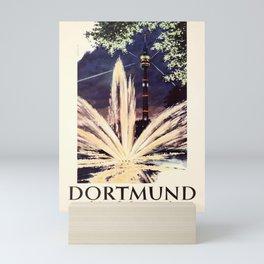 Affiche Travel Poster Dortmund Westfalenpark Karl Schiller Mini Art Print