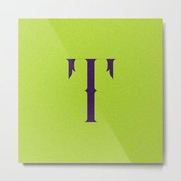 Letterform T Metal Print