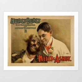 Vintage poster - Hurly Burly Extravaganza and Refined Vaudeville Art Print