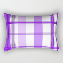 Shades of Purple and White Rectangular Pillow