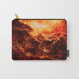 galaxy Mountains Fiery Orange & Red Carry-All Pouch