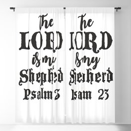 Psalm 23 Blackout Curtain
