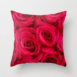 Red Roses Fine Art Photography, Flower Throw Pillow