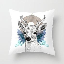 The Deer (Spirit Animal) Throw Pillow