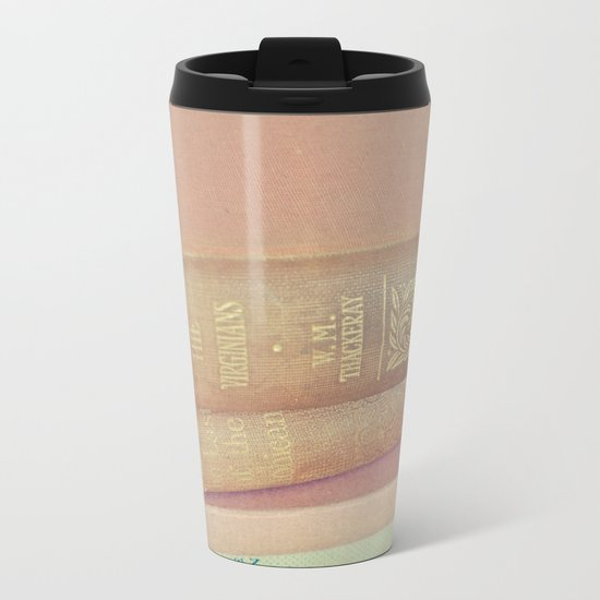 Book Lover Metal Travel Mug