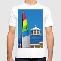 Hobie Sail White MEDIUM Mens Fitted Tee