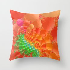 Fractal 107 Throw Pillow
