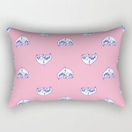 Best Friend Galentine's Day Pinky Promise Pattern in Pink / Blue Rectangular Pillow