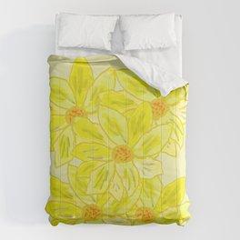 Painted Flower Comforters