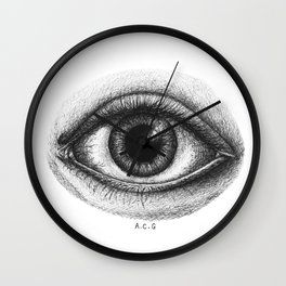 The Omniscient Eye Wall Clock