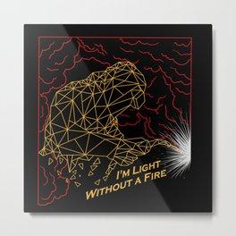 Welder Light Fire Metal Print