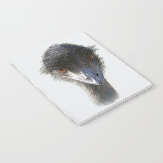 Suspicious Emu Stare, watercolor Notebook