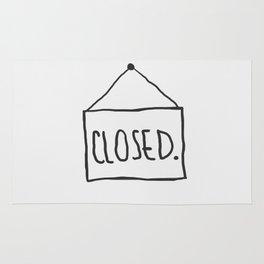 Closed. Rug