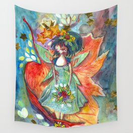 The fairy, the nature and the sky Wall Tapestry