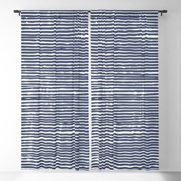 Imperfection, Striped Abstract Blackout Curtain
