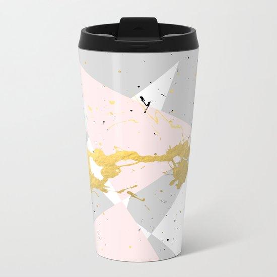 Gold Splatter #society6 #decor #buyart Metal Travel Mug