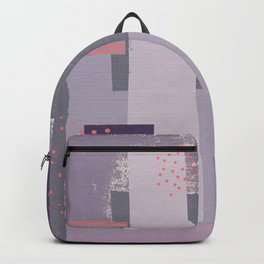 Purple, Gray and Orange Abstract Collage Backpack