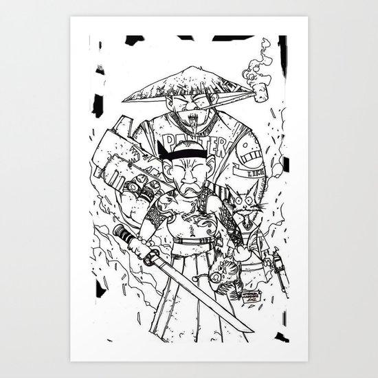 SUSHI MACHINEGUN Art Print