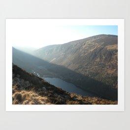 Glendalough Mountains Art Print