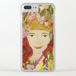 Queen of Everything Clear iPhone Case