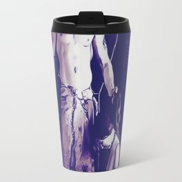 Welcome to Silent Hill - Pyramid Head v2, sexy erotic nude, cartoon in purple tones, submissive girl Travel Mug