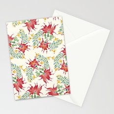 Dragon Flower Watercolor Stationery Cards