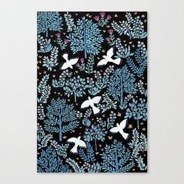 white birds garden Canvas Print