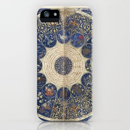 Horoscope from The book of birth of Iskandar (1411) - The Heavens on 25th April 1384 iPhone Case
