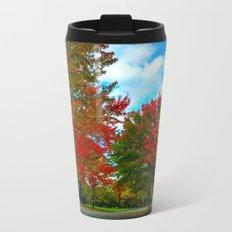 red and blue Metal Travel Mug