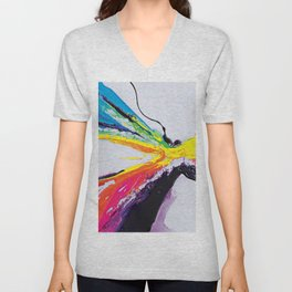 Abstract Art Britto - QB295 Unisex V-Neck