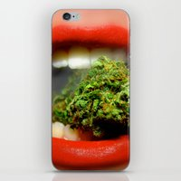 cannabis iPhone & iPod Skins featuring The Cannabis Queen by Vivisuals Photography