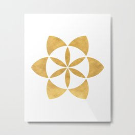 SEED OF LIFE minimal sacred geometry Metal Print