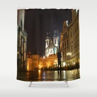 prague Shower Curtains featuring Prague by lularound