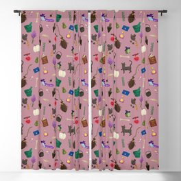 Copy of Assorted Witchery Repeating Pattern Pink Blackout Curtain