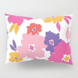 Large Colorful Florals Pillow Sham