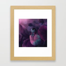 The Lady Bug on a Lotus Bud Framed Art Print