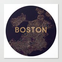 vintage map Canvas Prints featuring map by go_alexxa_go