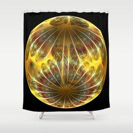Hello Yellow Shower Curtain