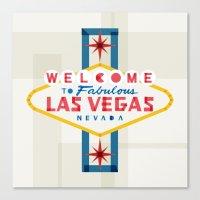 las vegas Canvas Prints featuring Las Vegas by Fimbis