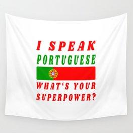 I speak Portuguese Portugal Design  Wall Tapestry