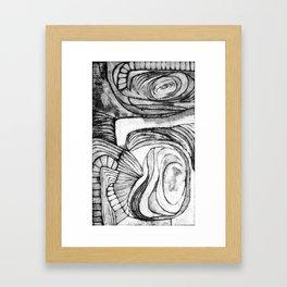 Onions (black and white) Framed Art Print