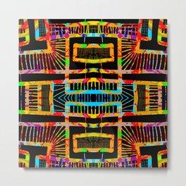splatter paint design, modern abstract ladders Metal Print