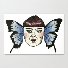 butterfly lady. Canvas Print