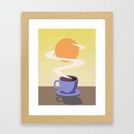 Coffee Sun Framed Art Print