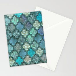 Moroccan Inspired Precious Tile Pattern Stationery Cards